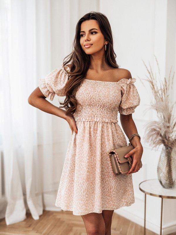 Sukienka Medina Beżowa