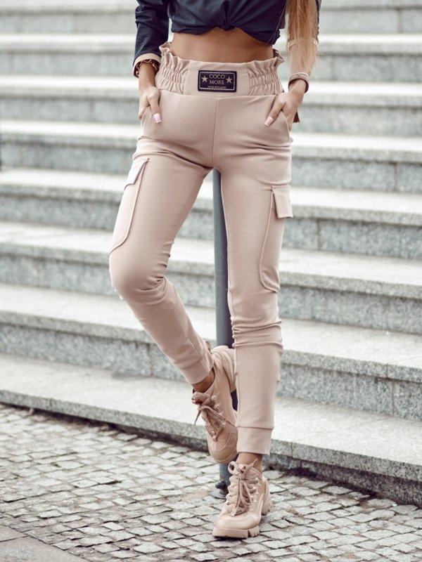 Spodnie Leah Pudrowe