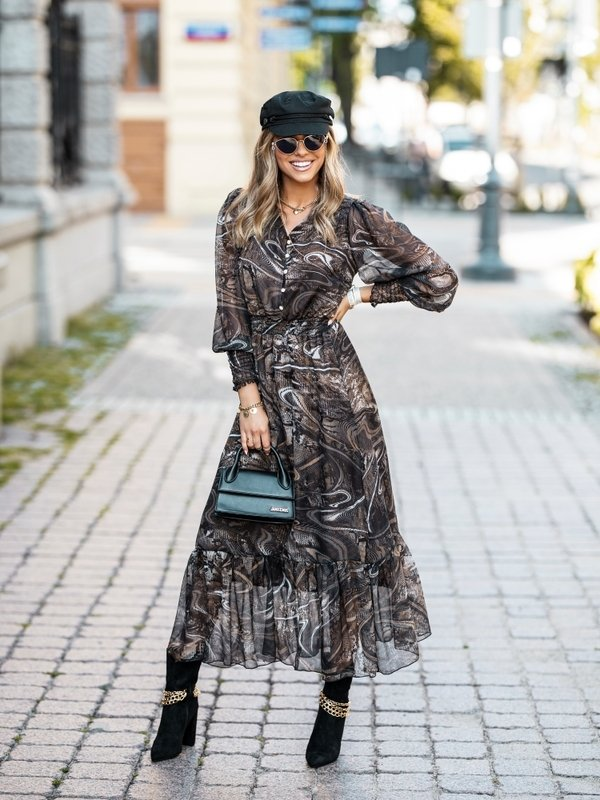 Sukienka Monroe Brązowa
