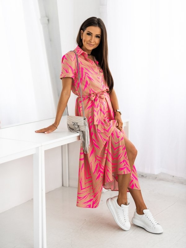 Sukienka Lena Amarantowa