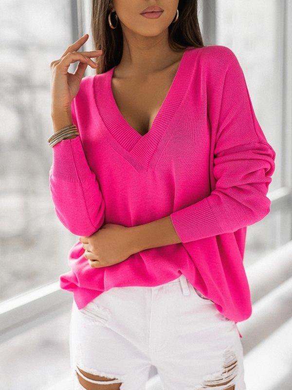 Sweter Classico Amarantowy
