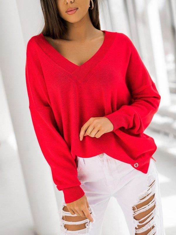 Sweter Classico Czerwony