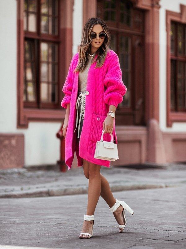 Sweter Aurella Amarantowy