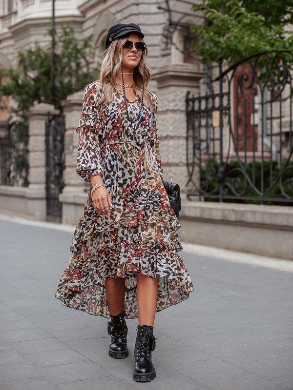 Sukienka Benita Beżowa