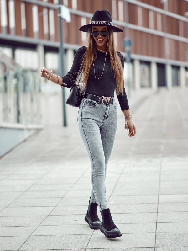 Spodnie Manile Jeans Szare