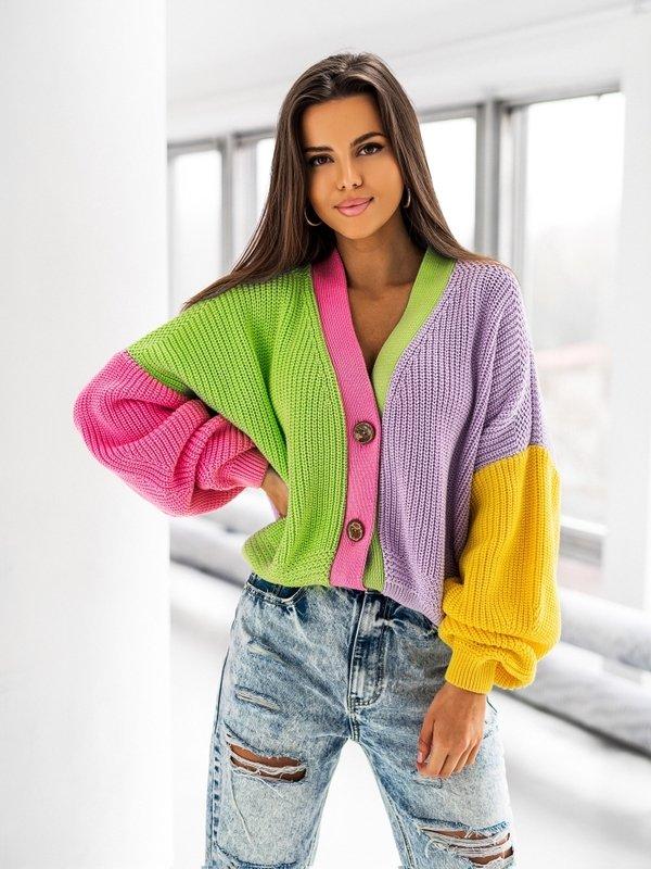 Sweter Karen Amarantowy