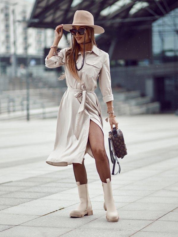 Sukienka Gabriella Beżowa