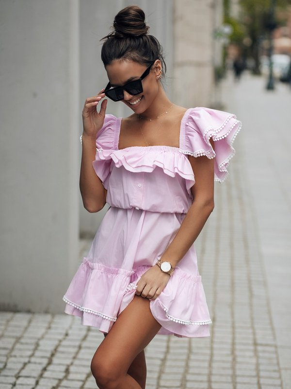 Sukienka Anaya Pudrowa