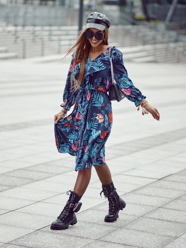 Sukienka Julitta Granatowa