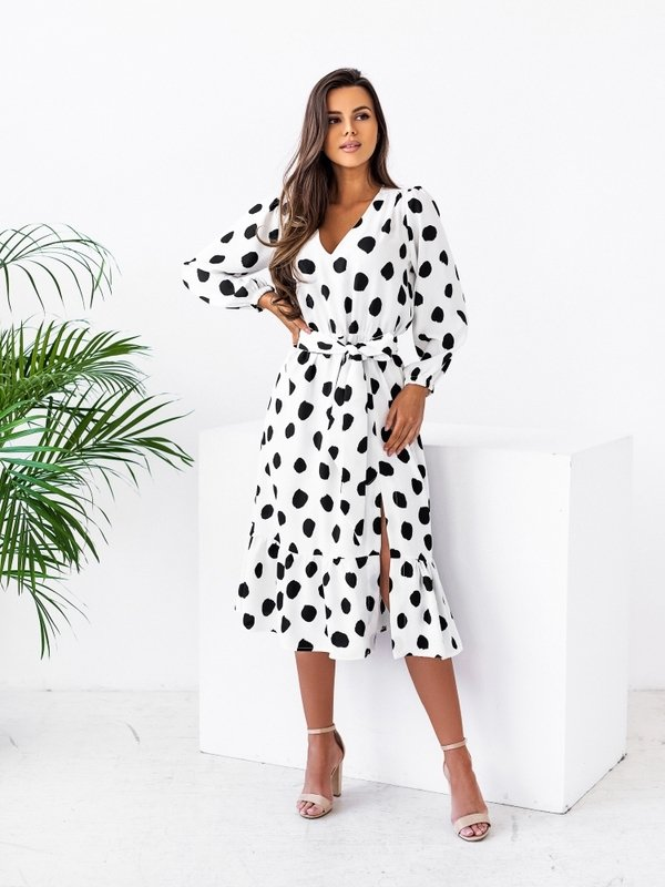 Sukienka Jerome Big Dots Biała