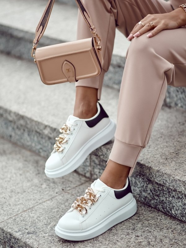 Sneakersy Giorno Black Białe