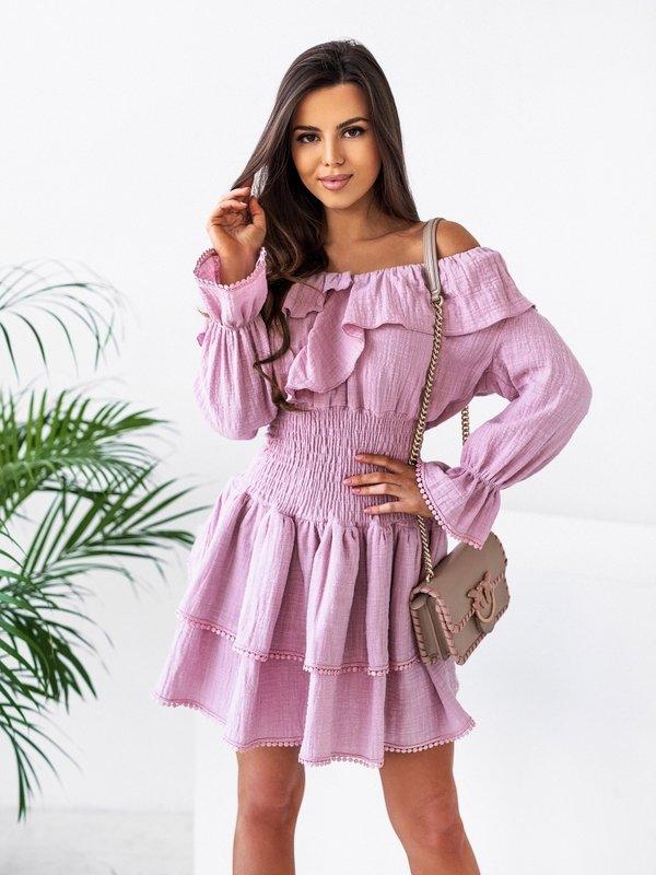 Sukienka Elen Różowa