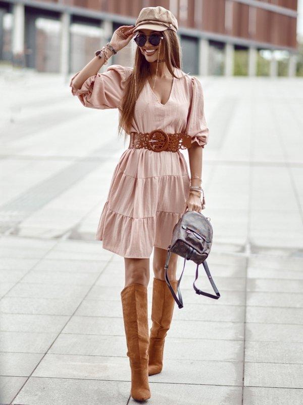 Sukienka Aura Pudrowa