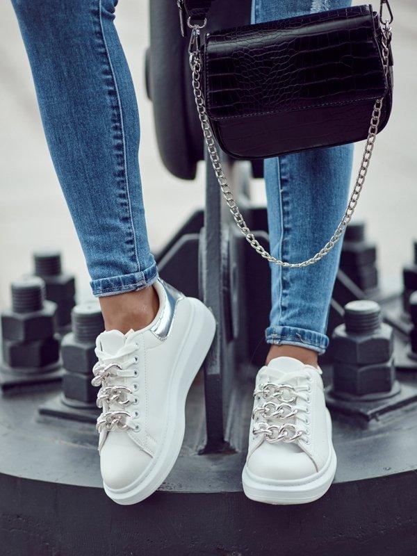 Sneakersy Giorno Silver Białe