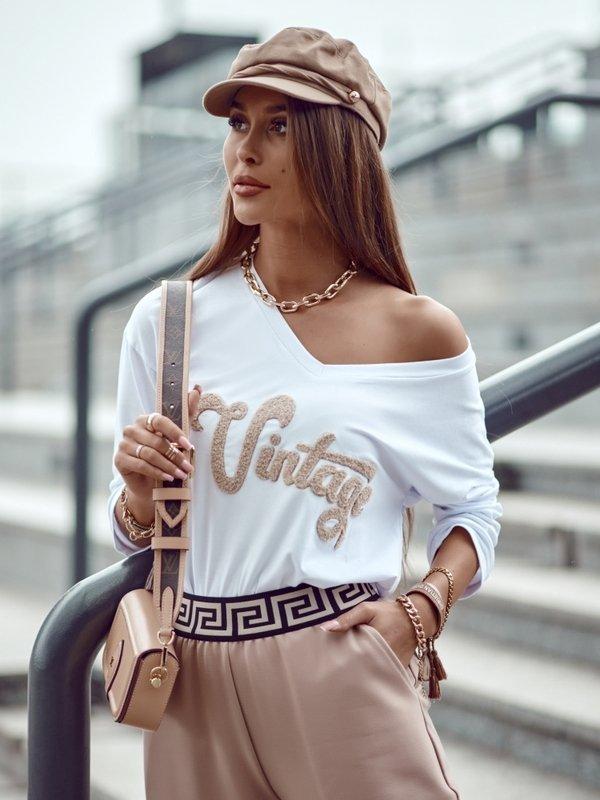 Bluzka Vintage Biała