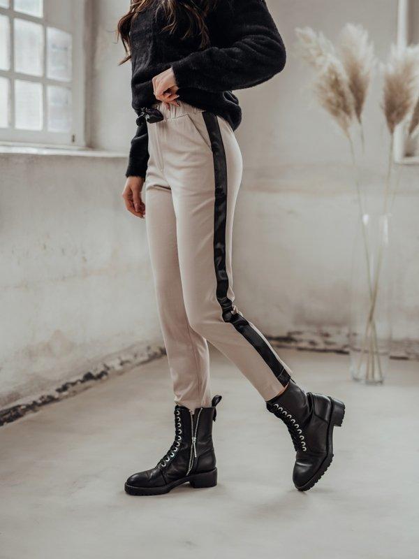 Spodnie Biriam Black Pudrowe