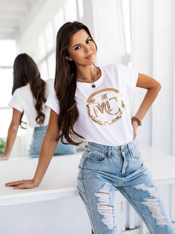 T-shirt MC Sequin Biały