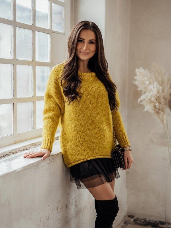 Sweter Dakota Musztardowy