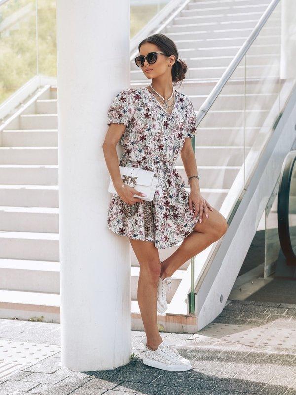 Sukienka Lemony Flower Kremowa