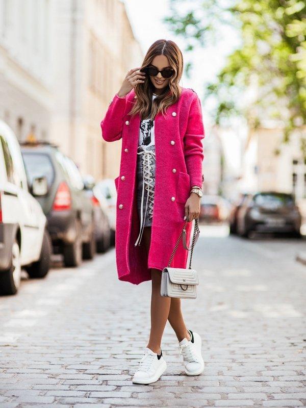 Sweter Jasmin Amarantowy