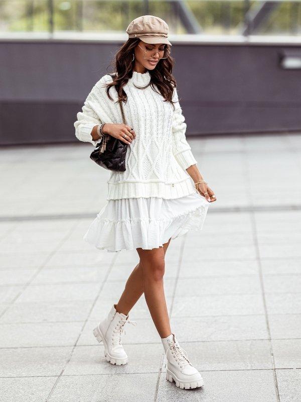 Sukienka Airi White Kremowa