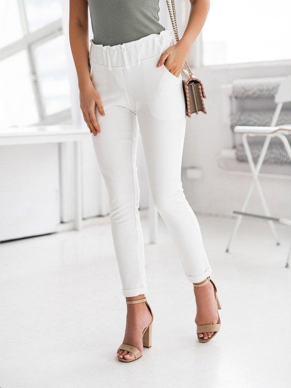 Spodnie Bralene Białe