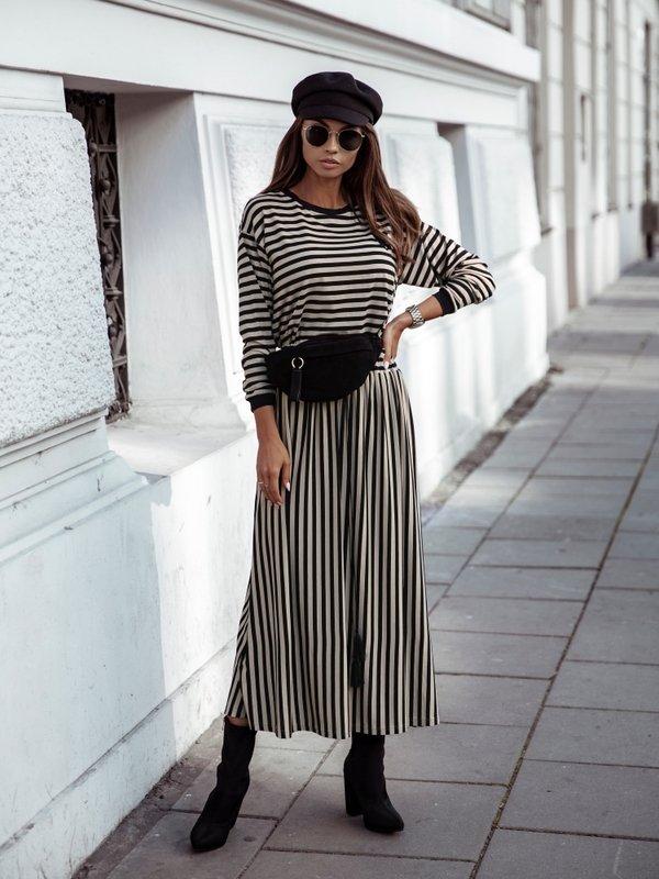 Spódnica Demi Karmelowa