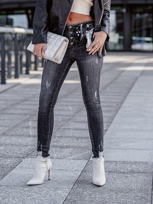Spodnie Marivile Jeans Czarne