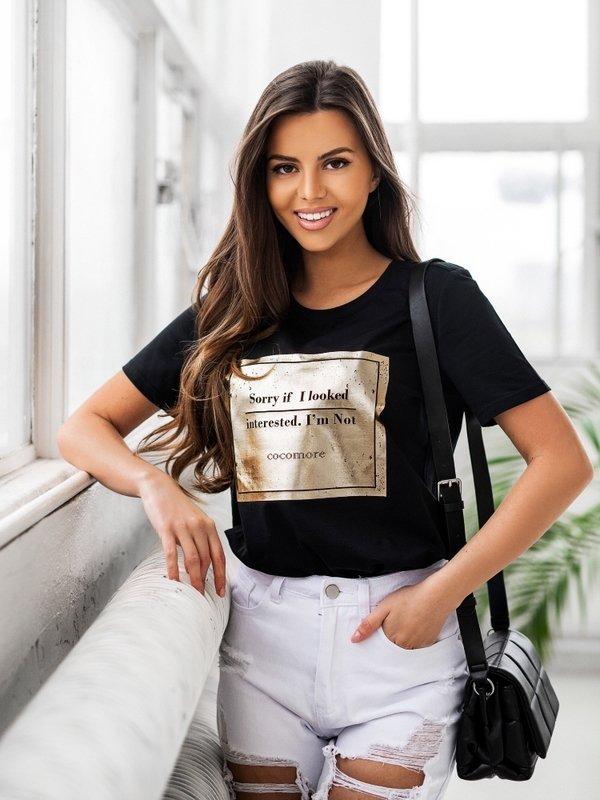 T-shirt Interested Czarny