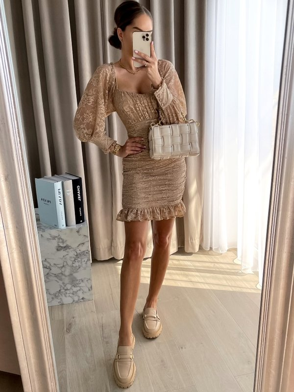 Sukienka Namo Beżowa