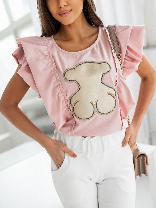T-shirt Teddy Wave Różowy