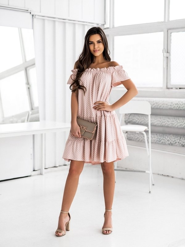 Sukienka Fairy Pudrowa