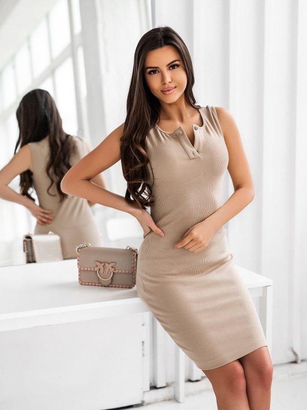 Sukienka Savana Karmelowa