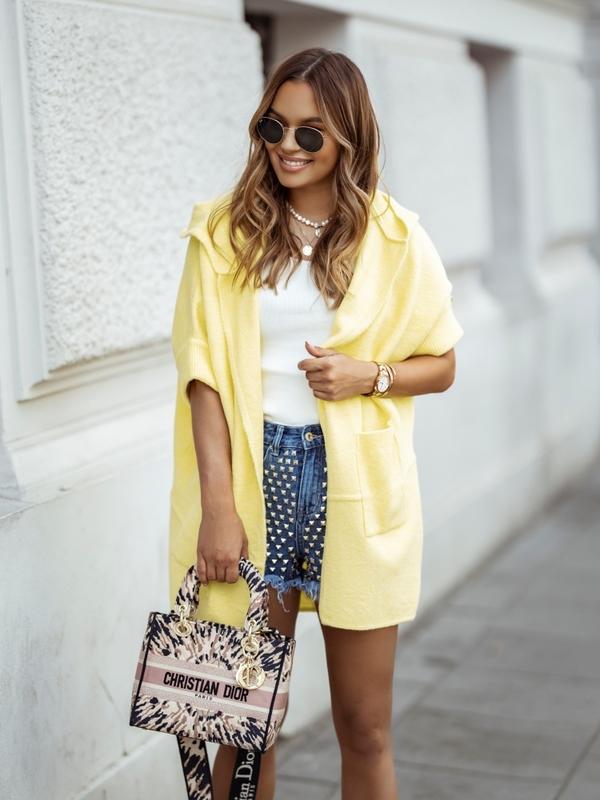 Sweter Otella Żółty
