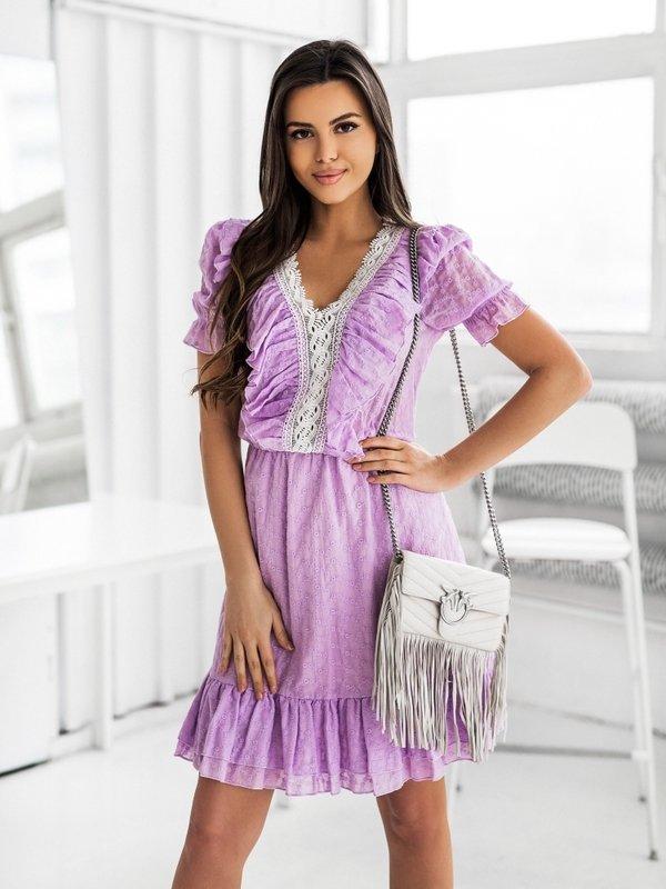 Sukienka Malaga Fioletowa