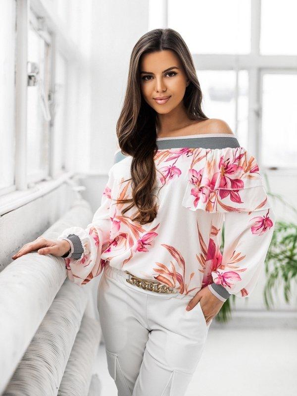 Bluzka Nicole Amarantowa