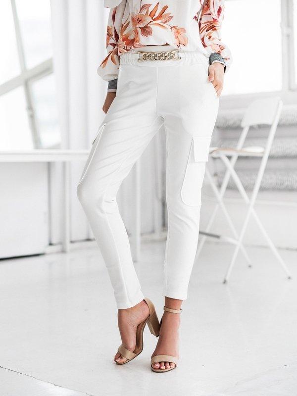 Spodnie Glow Białe