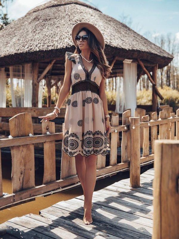 Sukienka Palmer Beżowa