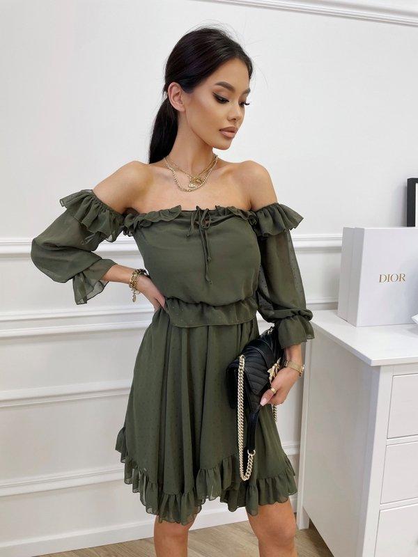 Sukienka Romantic Khaki