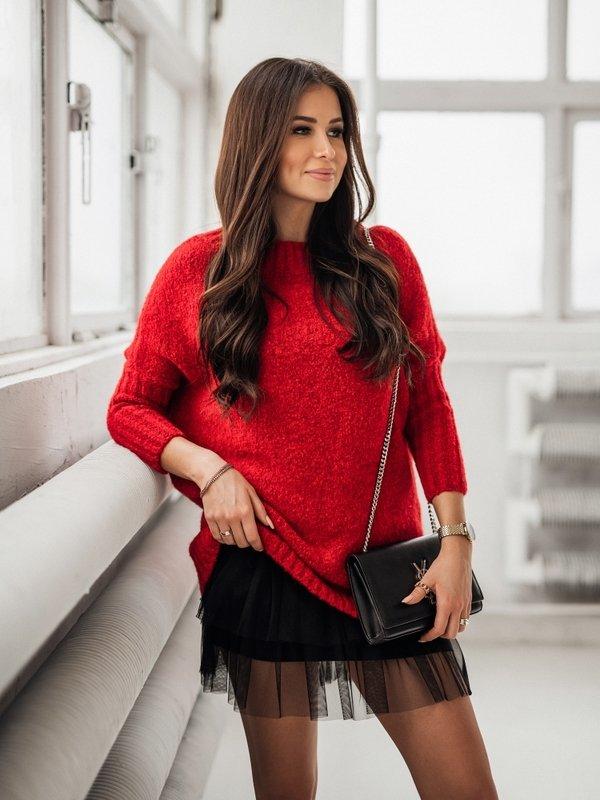 Sweter Jacqueline Czerwony