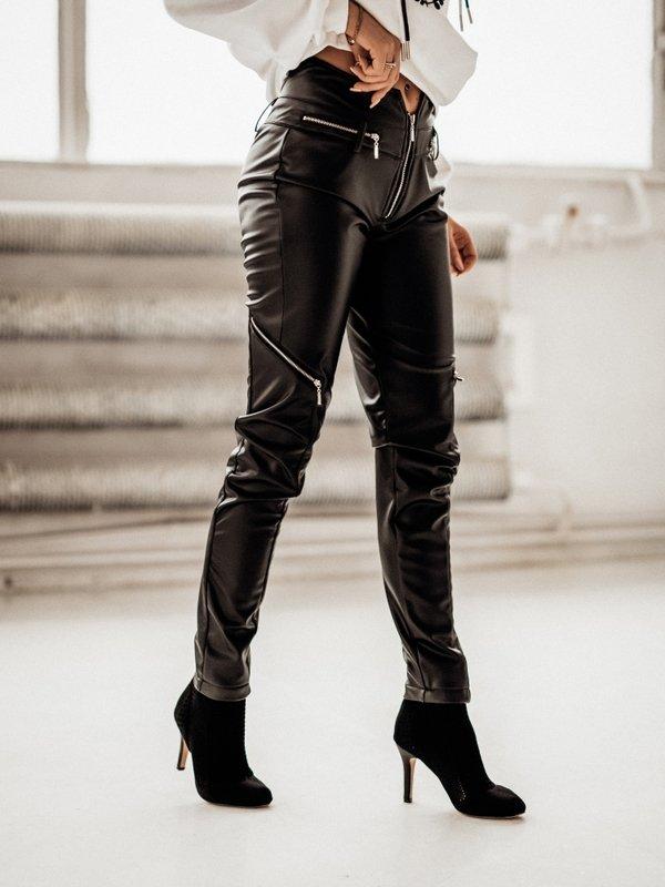 Spodnie Check Czarne