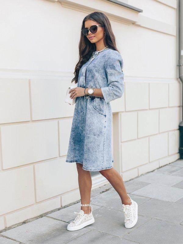 Sukienka Madame Jeans Niebieska