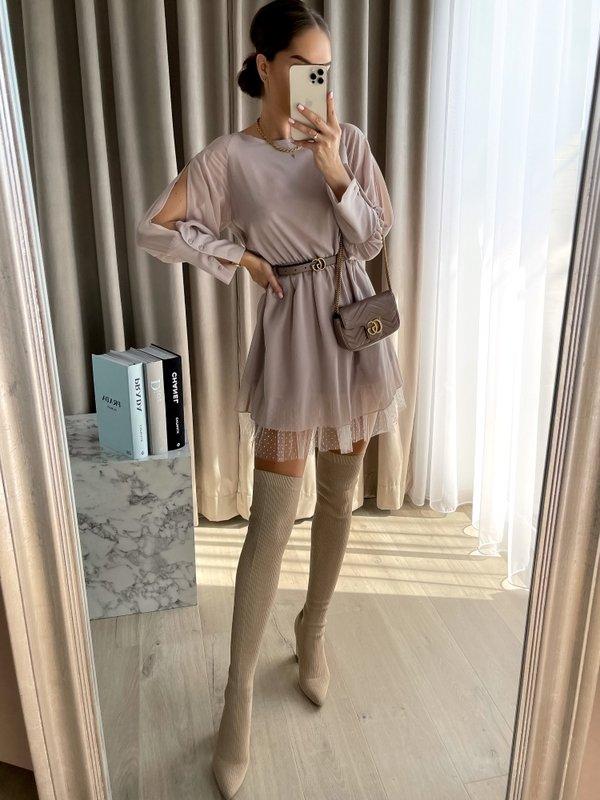 Sukienka Mirelle Beżowa
