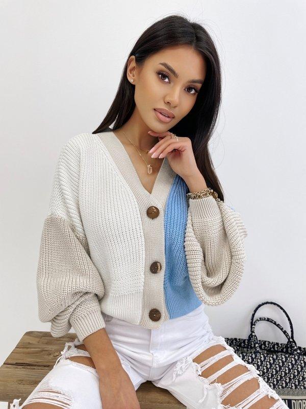 Sweter Karen Niebieski