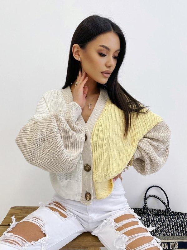Sweter Karen Żółty