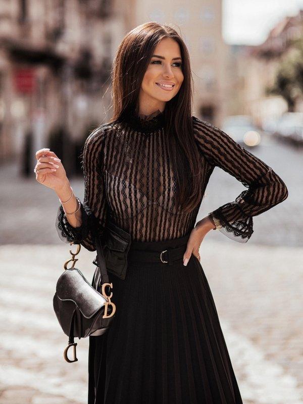 Bluzka Lila Czarna