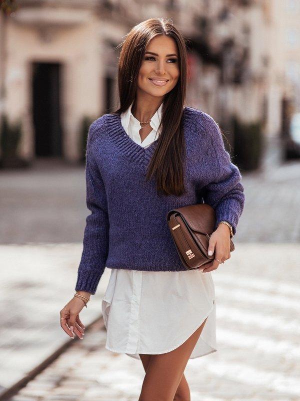 Sweter Ashley Fioletowy
