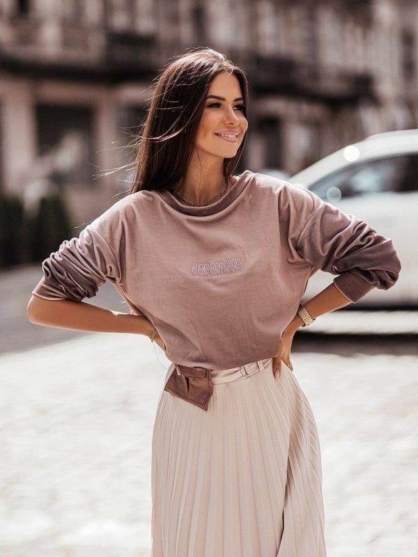 Bluza Nathalie Brązowa