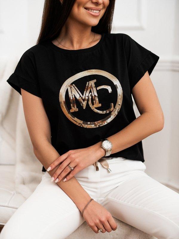 T-shirt MC Sequin Czarny
