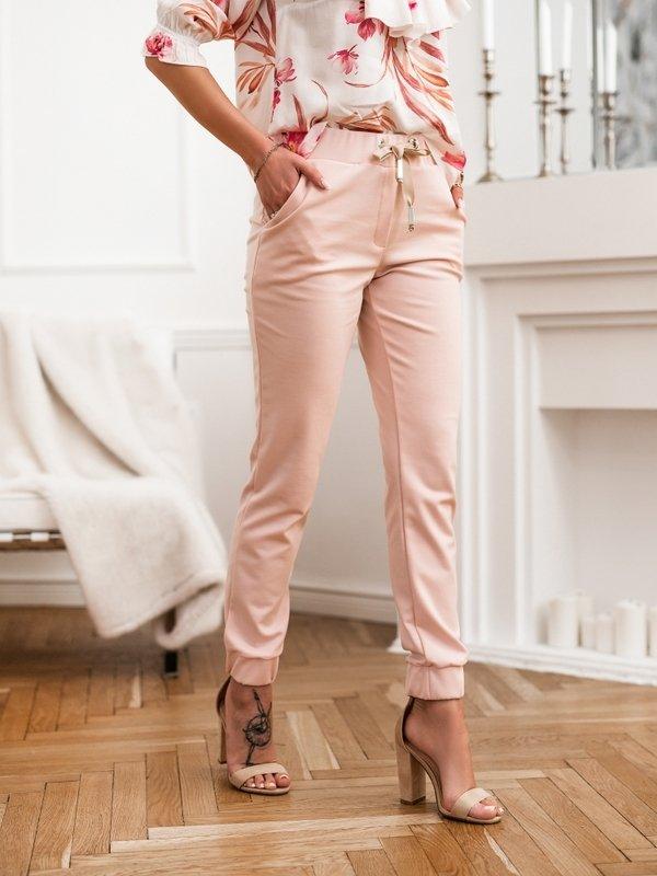 Spodnie Marlene Różowe